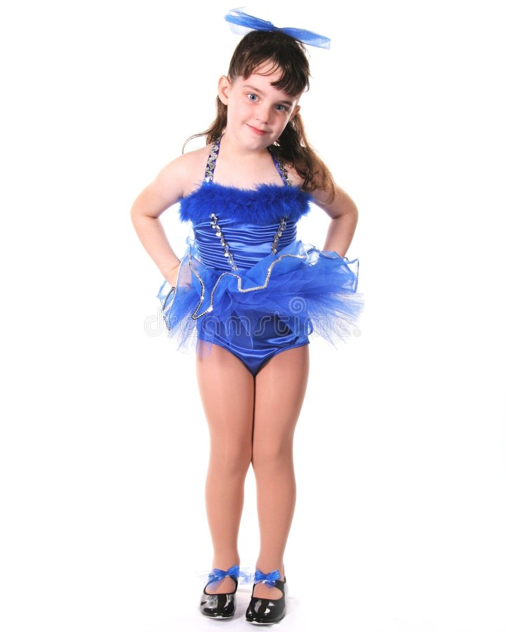 mała dziewczynka tancerzem. zdjęcie royalty free