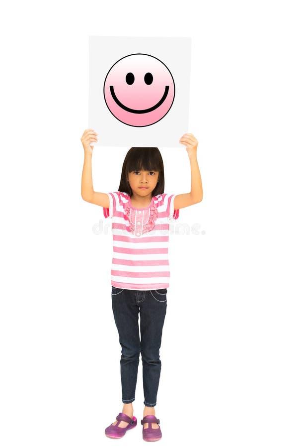 Mała dziewczynka target404_1_ uśmiechu ikony symbol fotografia stock