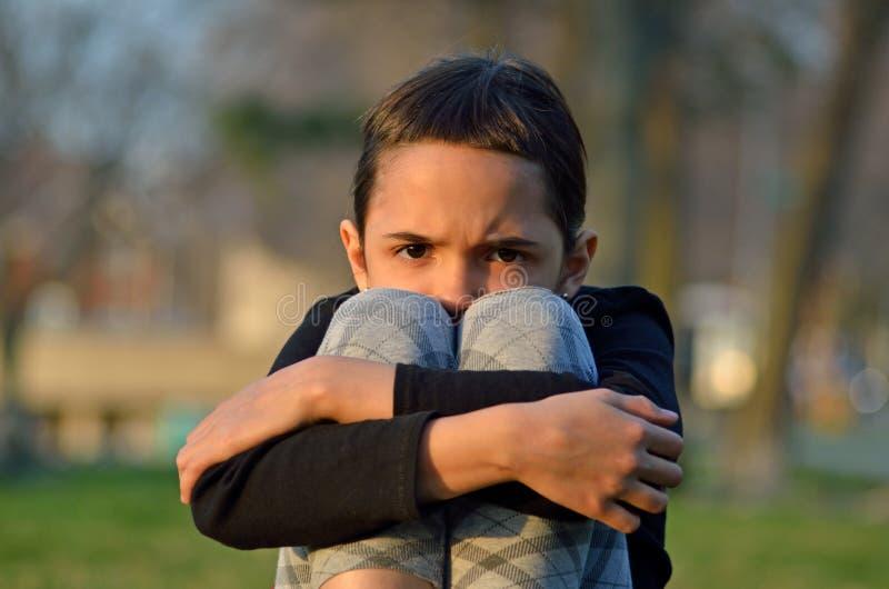 Mała Dziewczynka w cierpieniu obrazy stock