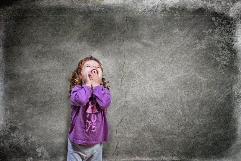 Mała dziewczynka w pijamas zdjęcie royalty free