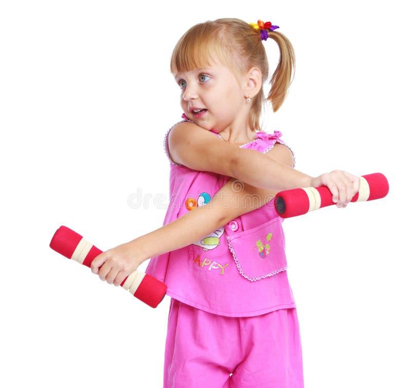 Mała dziewczynka w różowym kostiumu obraz royalty free