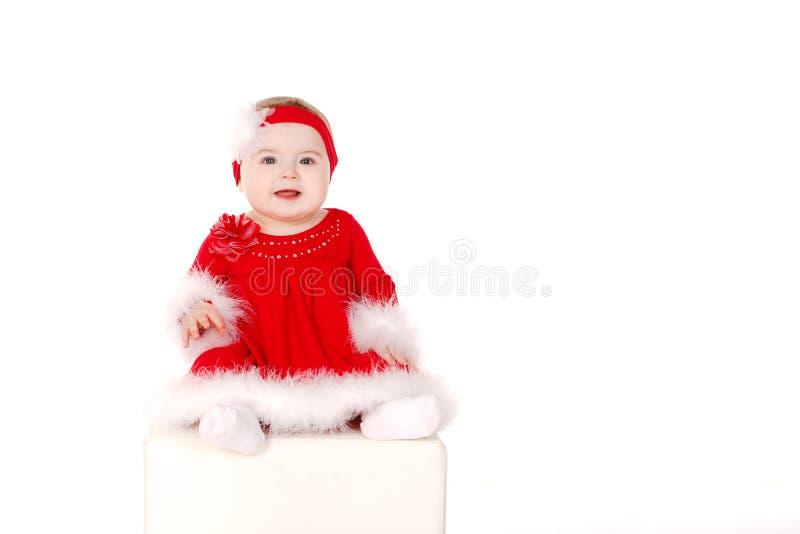 Mała dziewczynka w Santa kostiumu obraz stock