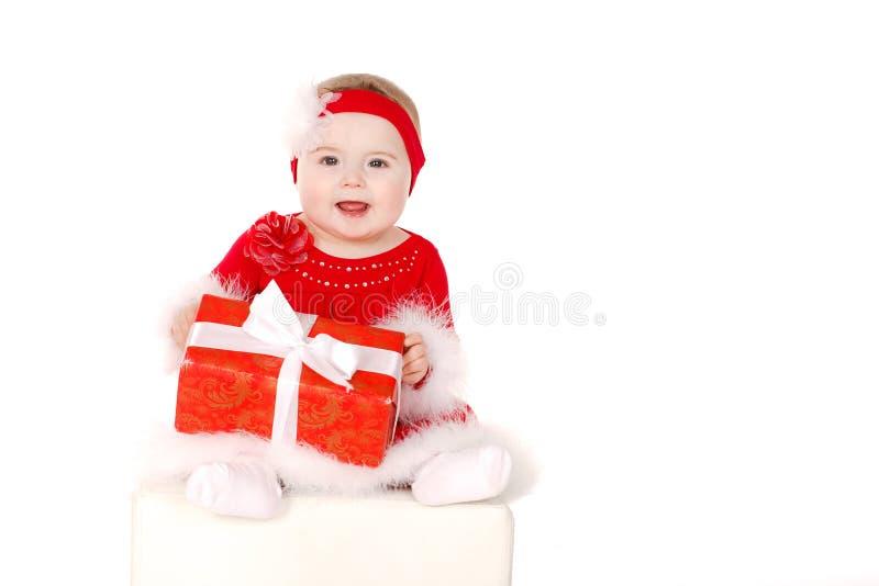 Mała dziewczynka w Santa kostiumu obrazy stock