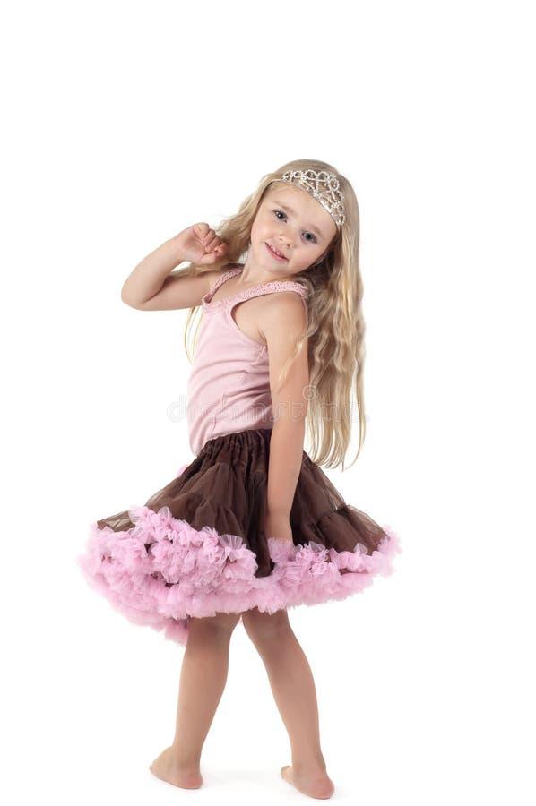 Mała dziewczynka w spódniczki baletnicy spódnicie fotografia stock