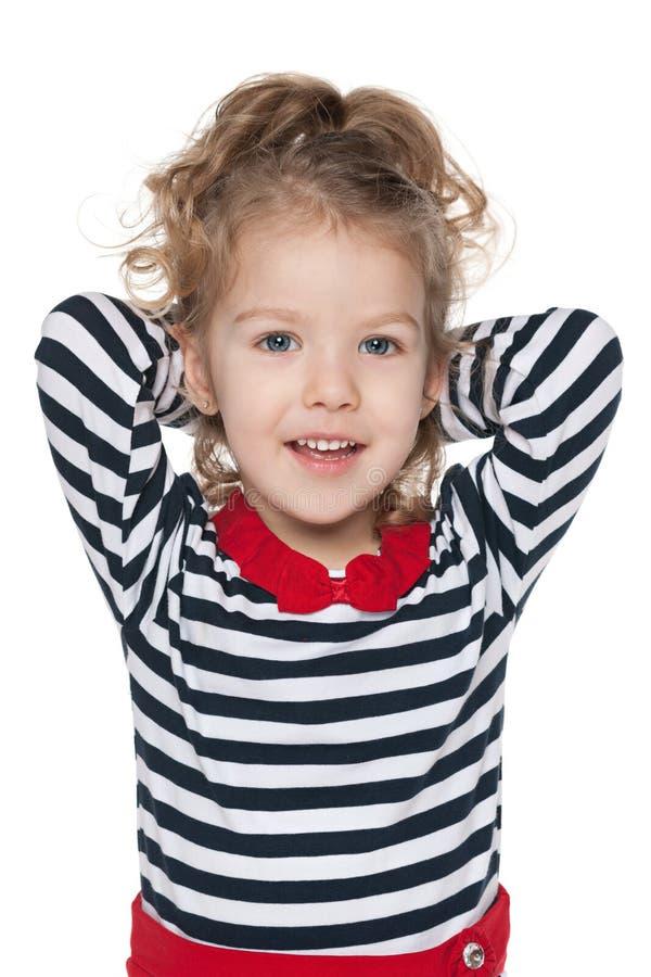 Download Mała Dziewczynka Wyobraża Sobie Zdjęcie Stock - Obraz złożonej z rozochocony, salowy: 41951582