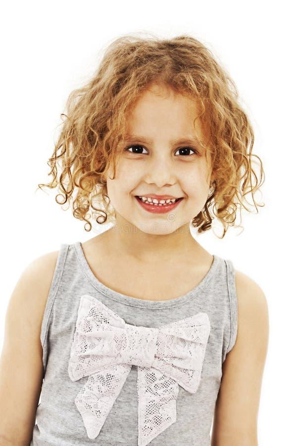 Download Mała Dziewczynka Z Kędzierzawym Włosy Obraz Stock - Obraz złożonej z rozochocony, szczęśliwy: 28957831