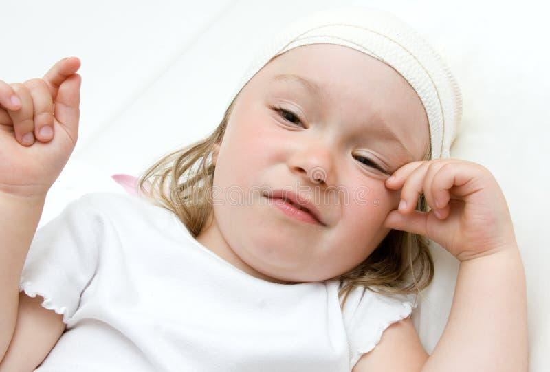 mała dziewczyny choroba obrazy stock