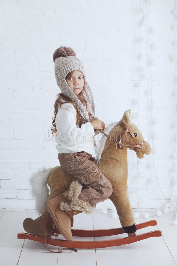 mała fashion girl obraz royalty free