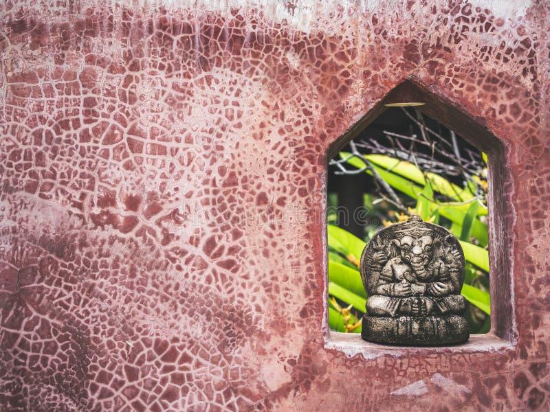Mała Ganesha kamienia rzeźby dekoracja na ścianie obraz royalty free
