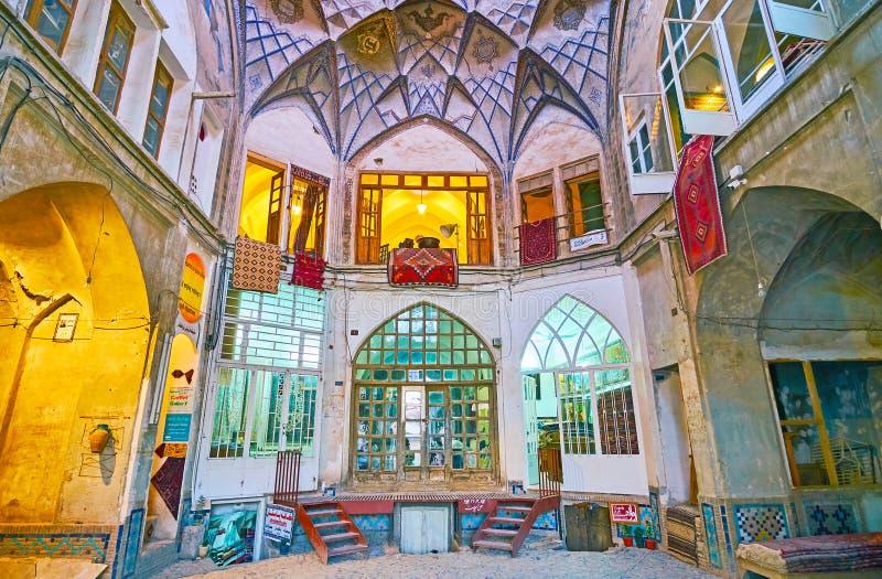 Mała handlarska kopuła, Kashan Uroczysty bazar, Iran obraz royalty free