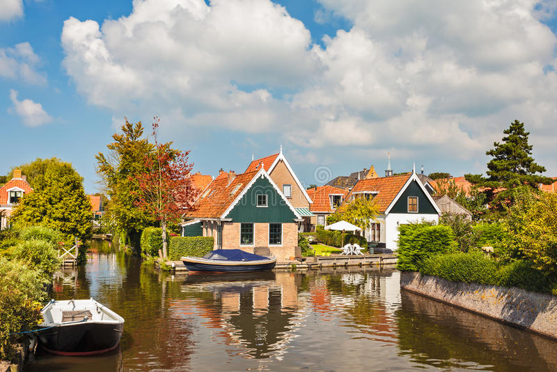 Mała Holenderska wioska Hindeloopen obraz royalty free