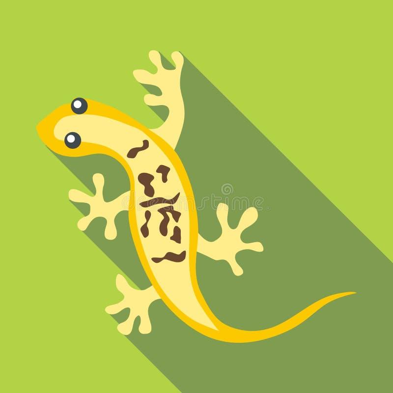 Mała jaszczurki ikona, mieszkanie styl royalty ilustracja