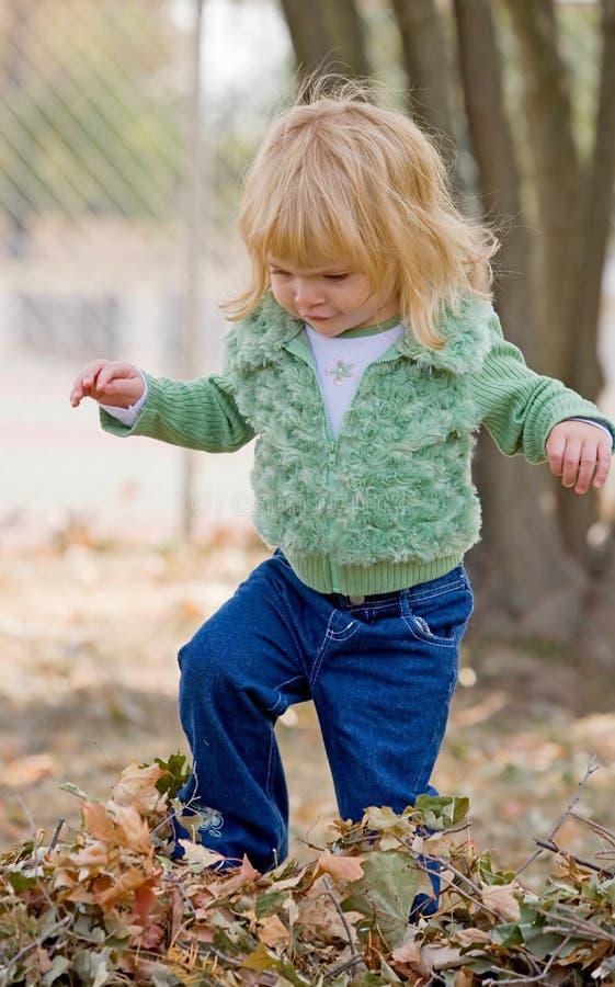 mała jesień dziewczyna zdjęcie royalty free
