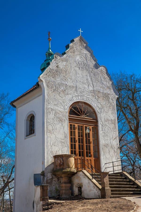 Mała kaplica kawaleria obok kościół St Lawrance zdjęcie royalty free