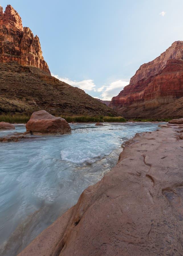 Mała Kolorado rzeka, Uroczystego jaru park narodowy, Arizona obraz stock