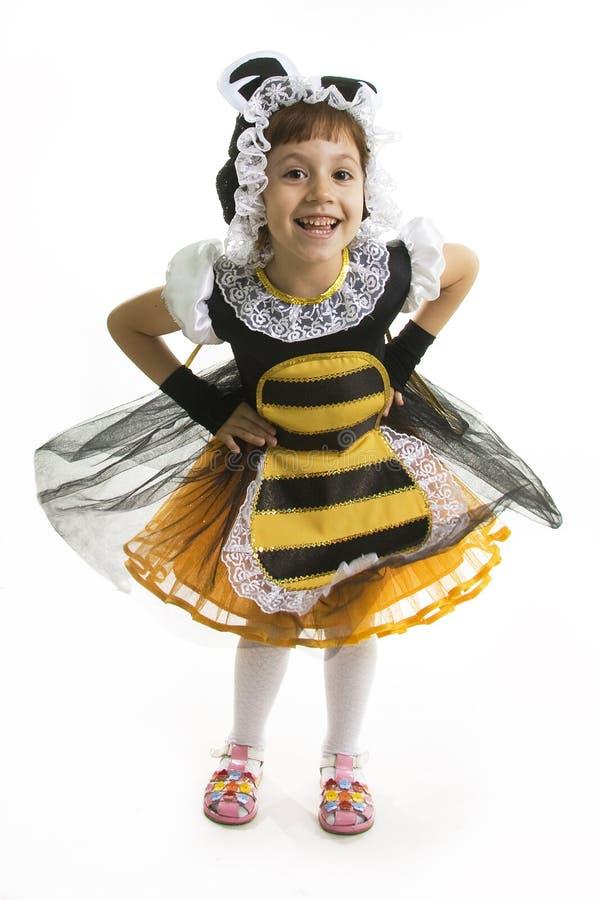 mała kostiumowa pszczoły dziewczyna zdjęcie royalty free