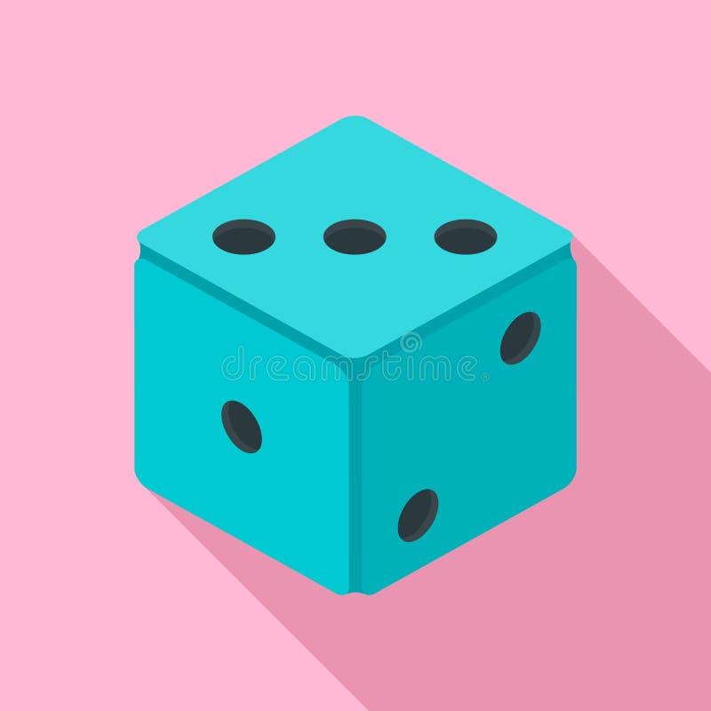 Mała kostki do gry ikona, mieszkanie styl ilustracji