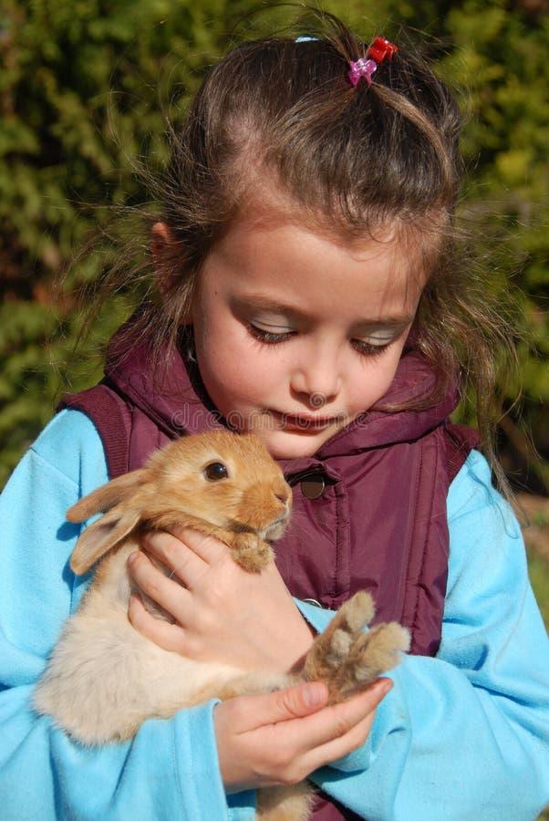 mała królik dziewczyna obraz royalty free
