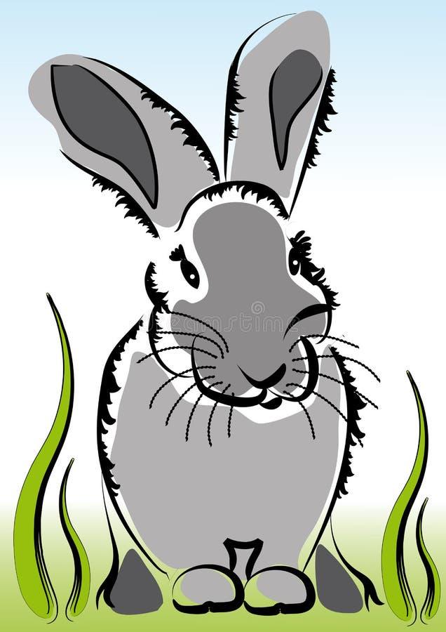 mała królik trawa obrazy stock
