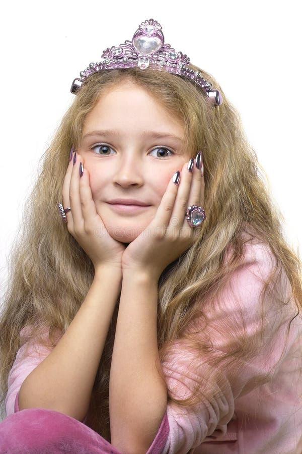 mała księżniczka zdjęcie royalty free