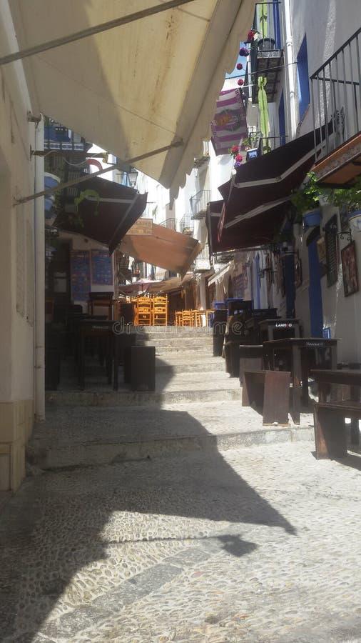Mała lato ulica Spain fotografia royalty free