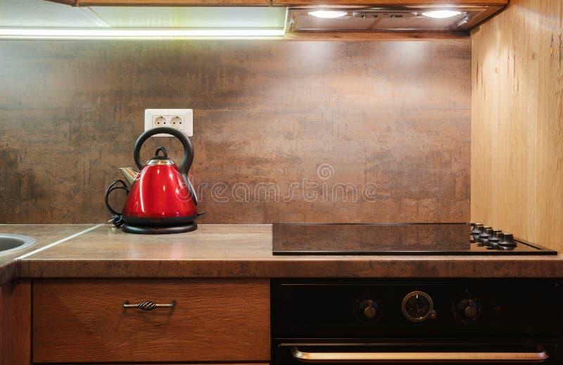 Mała mieszkanie kuchnia fotografia stock
