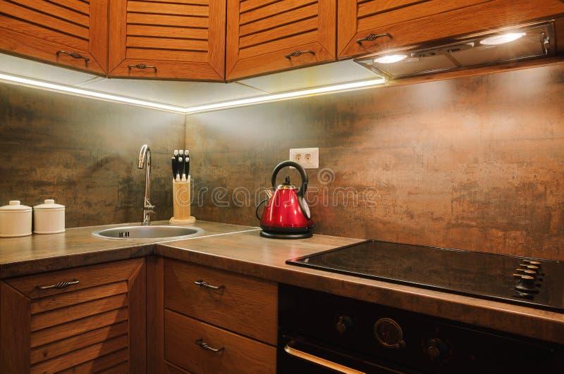 Mała mieszkanie kuchnia zdjęcia royalty free