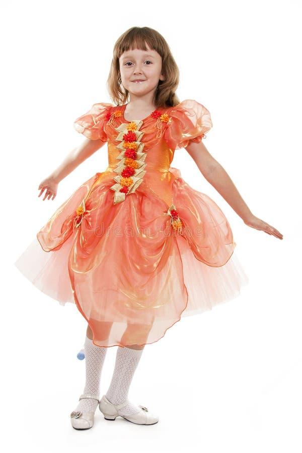 mała mody dancingowa dziewczyna zdjęcie royalty free