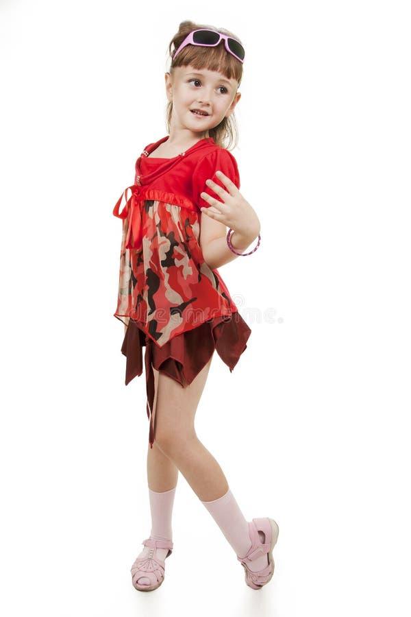 mała mody dziewczyna obrazy royalty free