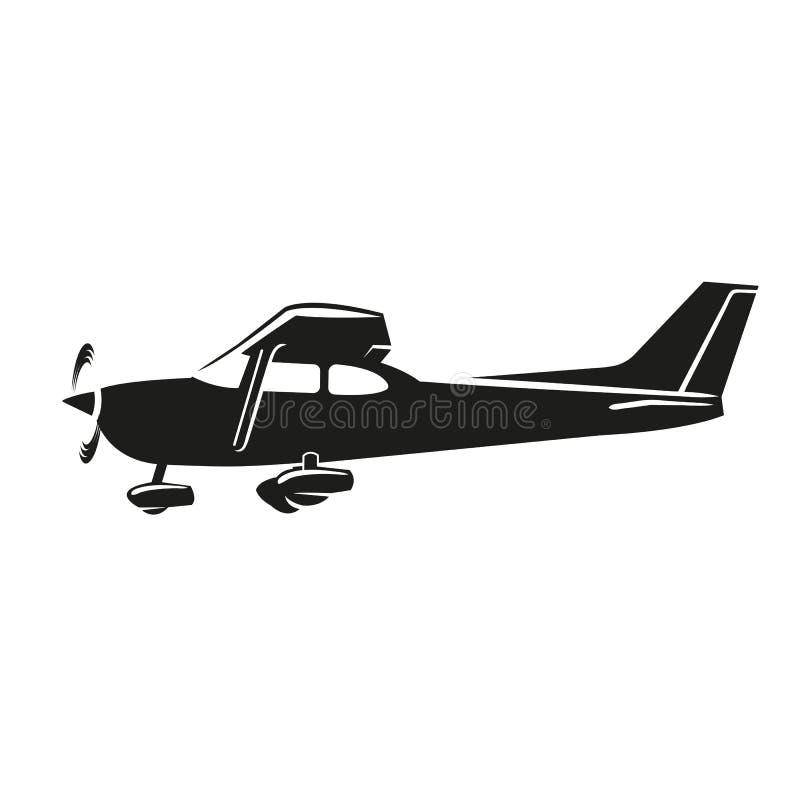 Mała płaskiego wektoru ilustracja Pojedynczego silnika napędzający samolot ilustracja wektor
