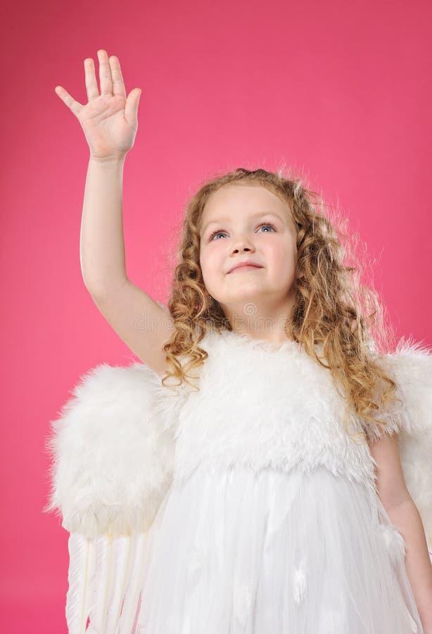 mała piękna anioł dziewczyna obraz stock