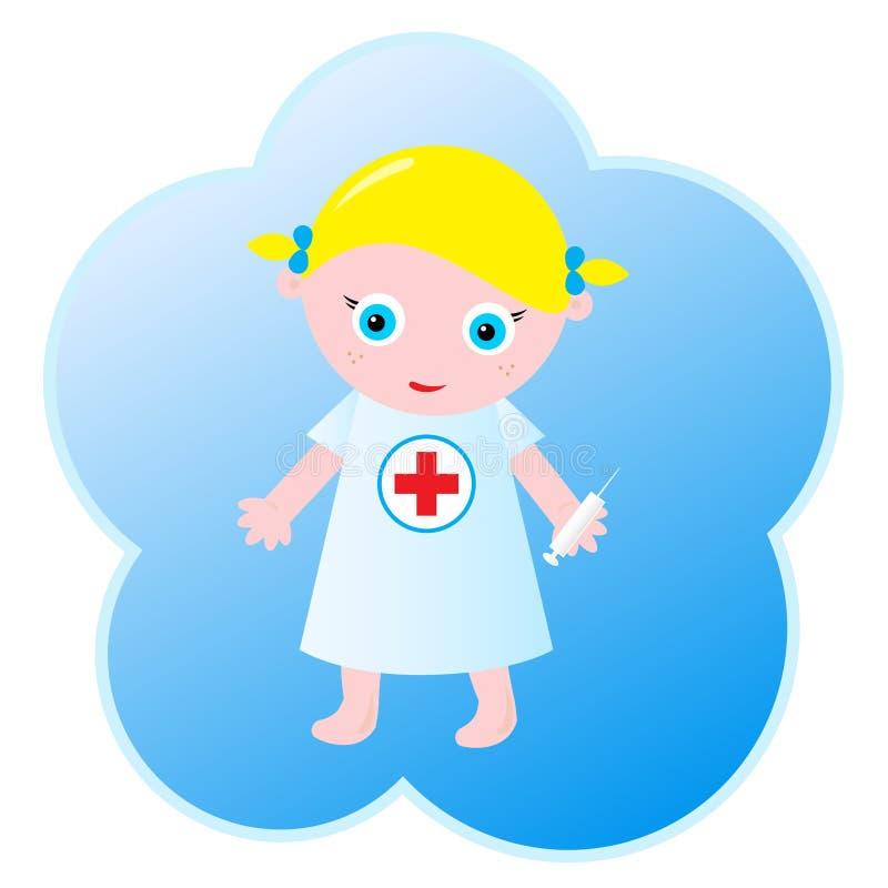 mała pielęgniarka ilustracja wektor