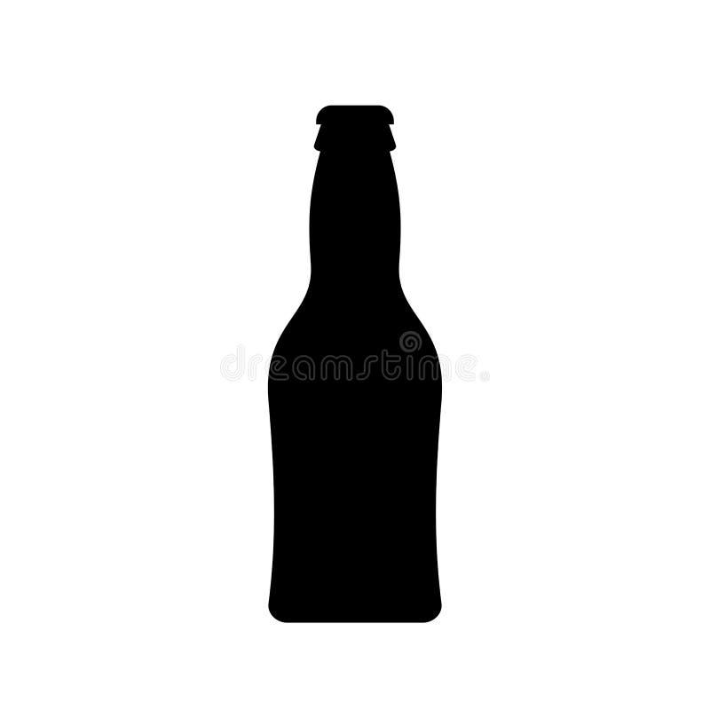 Mała piwnej butelki wektoru ikona ilustracja wektor