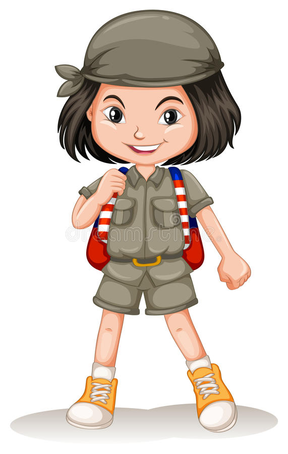 mała plecak dziewczyna royalty ilustracja