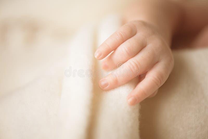 Mała ręka nowonarodzony dziecko dziecko jej mama Macierzyński, rodzinny, dba pojęcie i rodzi zanieczyszczenie na rzecznym Arno zdjęcie royalty free