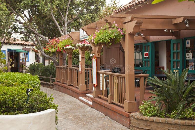 Mała restauracja i delikatesy w San Diego Kalifornia. obrazy royalty free
