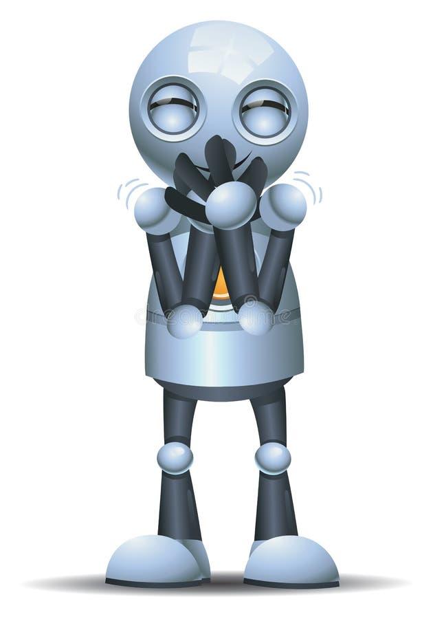 Mała robot emocja w chichocie ilustracji