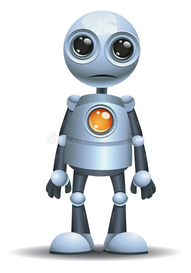 Mała robot emocja w szoku ilustracja wektor