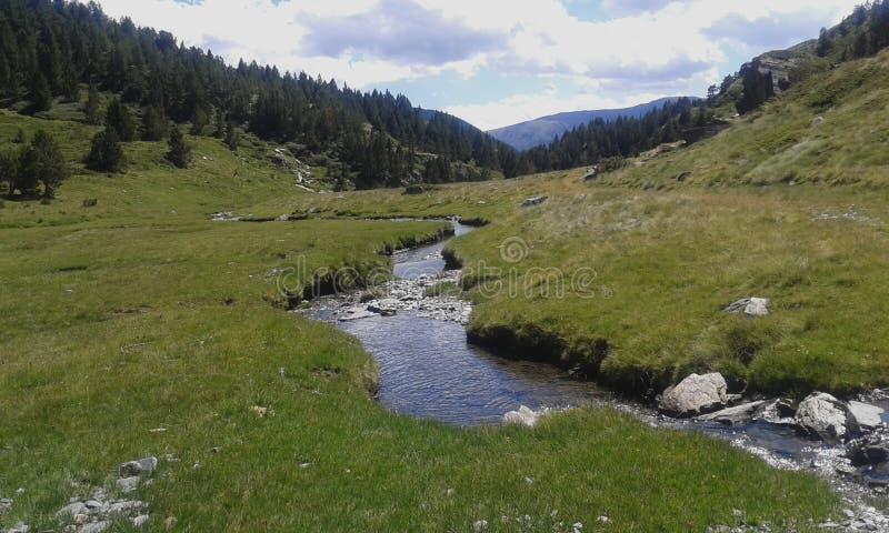 Mała rzeka w wielkiej dolinie zdjęcia royalty free