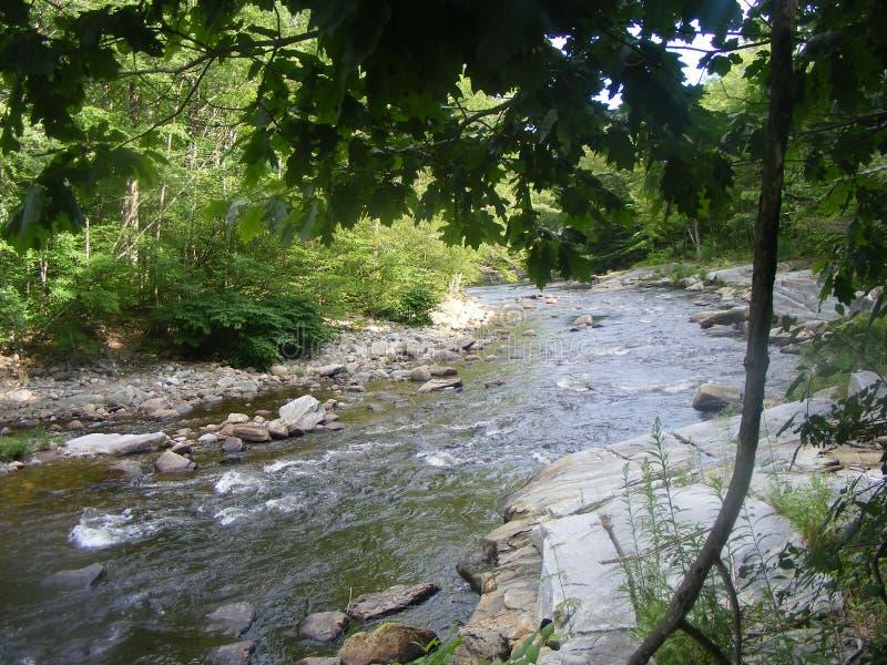Mała rzeka z skałami zdjęcie stock