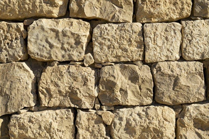 Mała sekcja Bizantyjska ściana przy Shivta w Izrael obrazy royalty free
