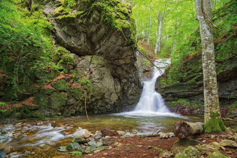 Mała siklawa W Bałkańskich górach obraz stock