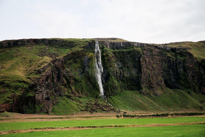 Mała siklawy kaskada w Iceland obraz royalty free