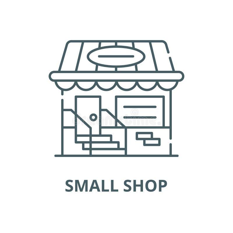 Mała sklepowa wektor linii ikona, liniowy pojęcie, konturu znak, symbol ilustracji