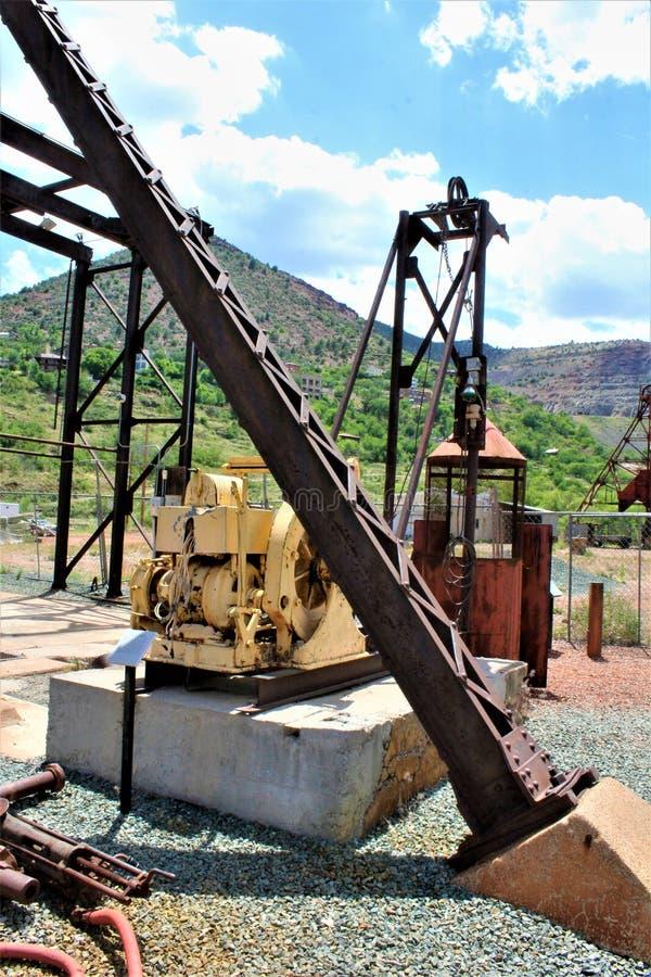 Mała stokrotki kopalnia, Audrey Hołobelna Kierownicza rama, Jerome, Arizona, Stany Zjednoczone zdjęcie stock