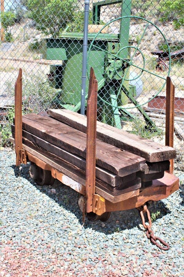 Mała stokrotki kopalnia, Audrey Hołobelna Kierownicza rama, Jerome, Arizona, Stany Zjednoczone fotografia royalty free