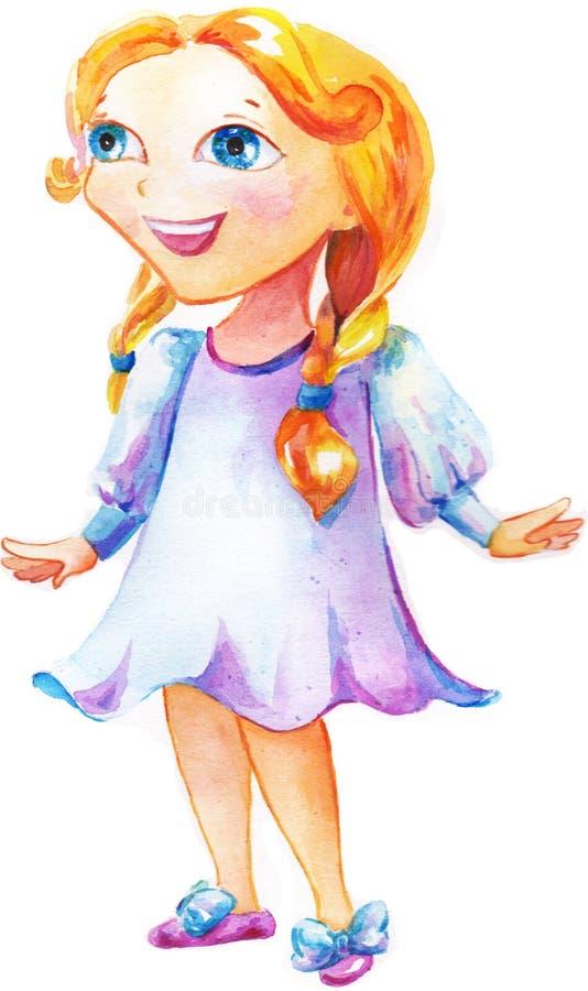 Download Mała szczęśliwa dziewczyna ilustracji. Ilustracja złożonej z zdrowy - 28971364