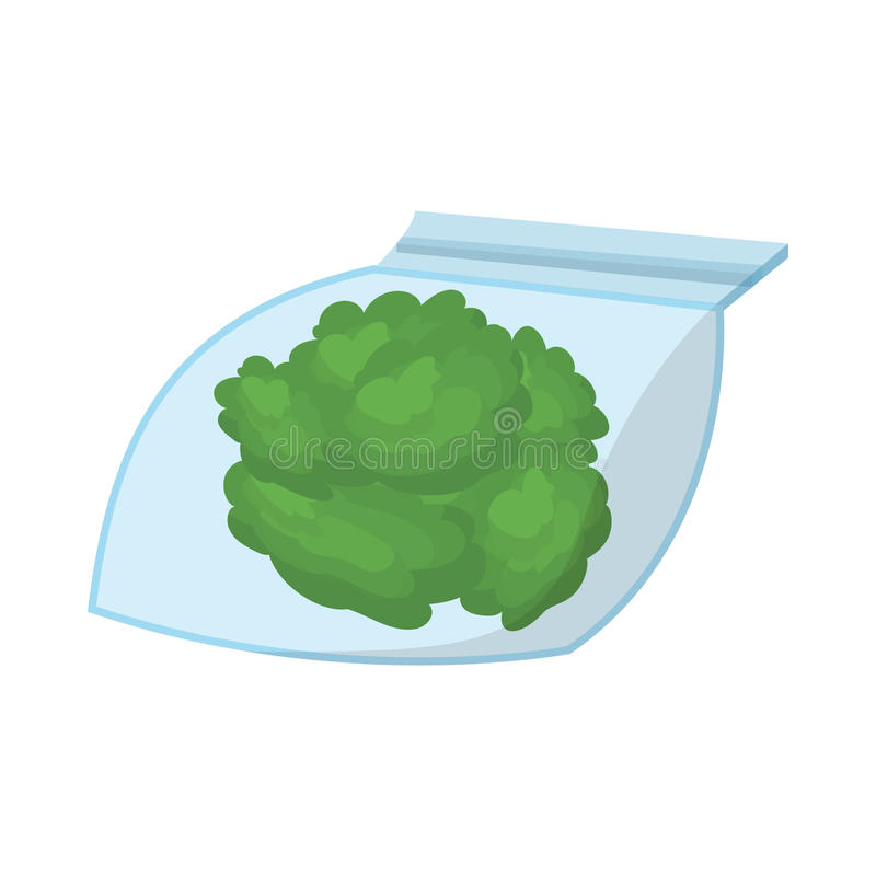 Mała torba z pączkami medyczna marihuany ikona ilustracji