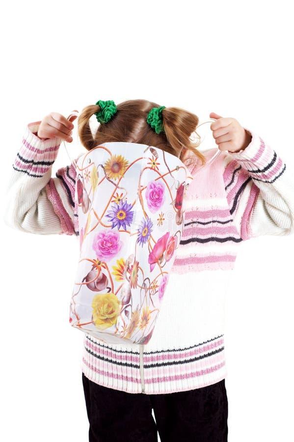 mała torby dziewczyna obraz stock