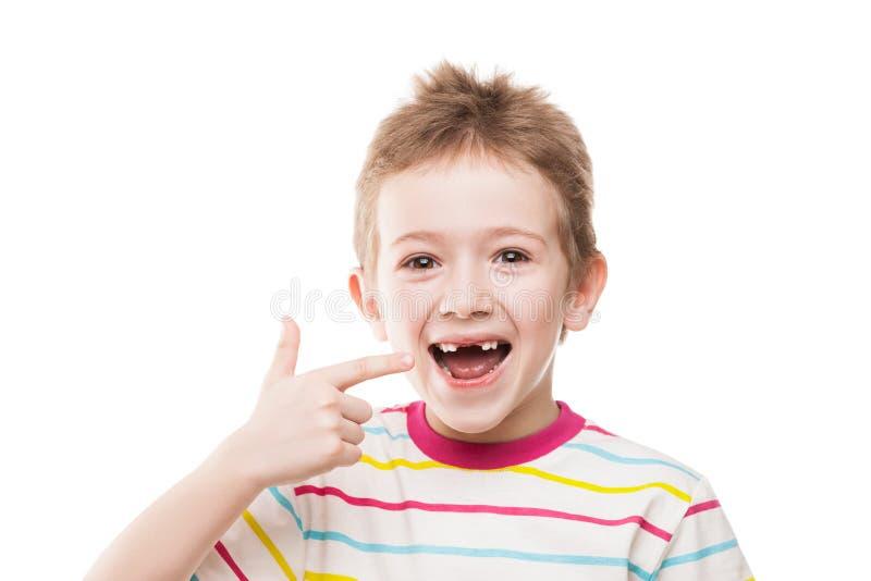 Pierwszy dziecka dojni lub chwilowi zęby spadają out zdjęcia stock